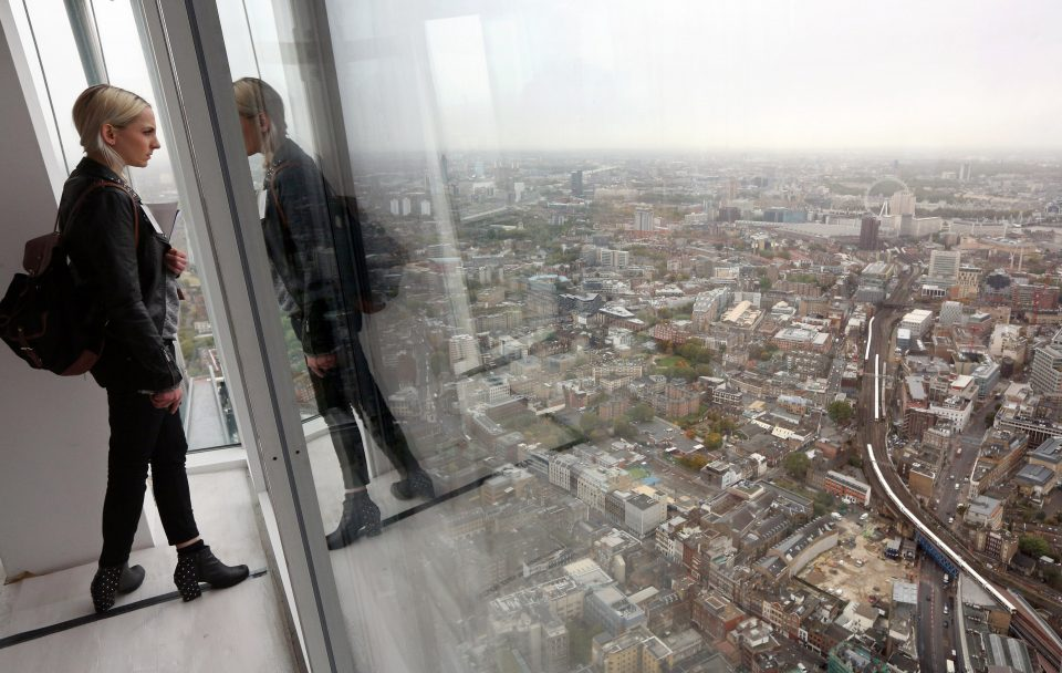 Press Preview Of The View From The Shard Tourist Attraction Which Opens In 2013