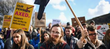 University Lecturers Protest Pension Changes