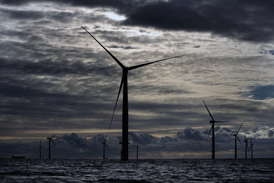 Renewable investment fund Greencoat Wind will buy SSE's 25.1 per cent stake in two wind farms off the coast of Cumbria for £350m.