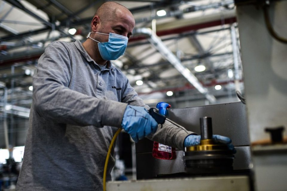 Eurozone manufacturing grows for second month running