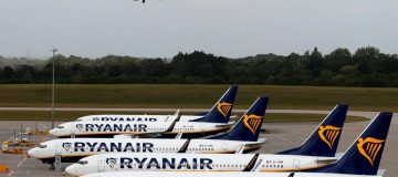 Budget carrier Ryanair flew 7m passengers last month, nearly half the number it carried in August last year, as demand for air travel continued to grow despite the UK's quarantine regime.