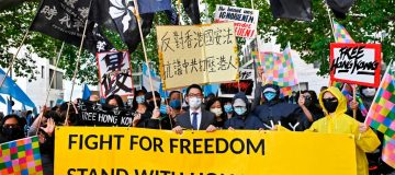 GERMANY-CHINA-POLITICS-DIPLOMACY-DEMO
