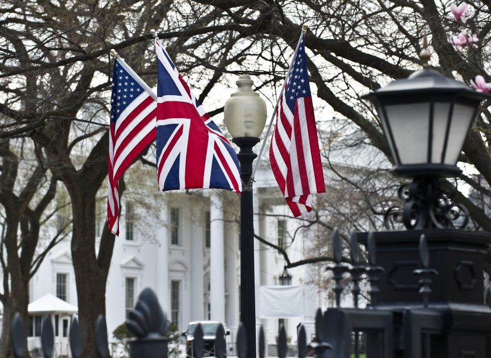 The Union Jack and the Stars and Stripes