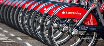 Boris Bikes In Santander Livery