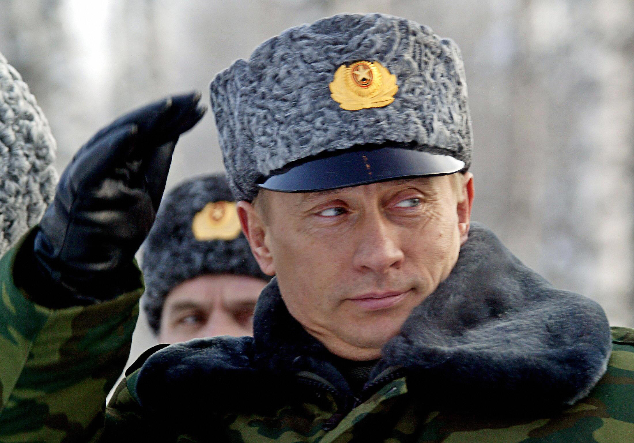 File photo shows Russian President Vladi...