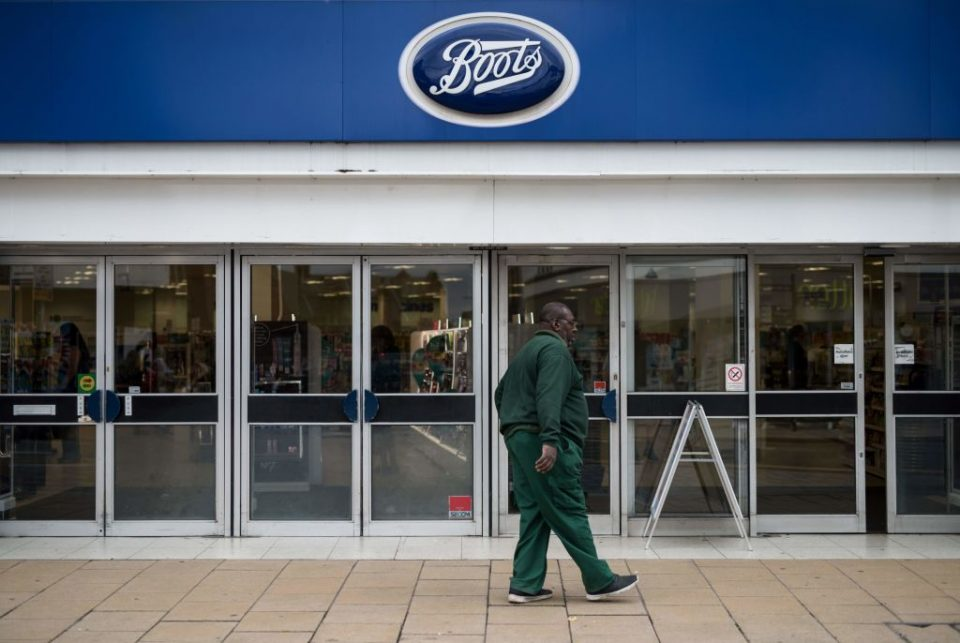 Boots sales drop 30 per cent as shoppers dodge high street