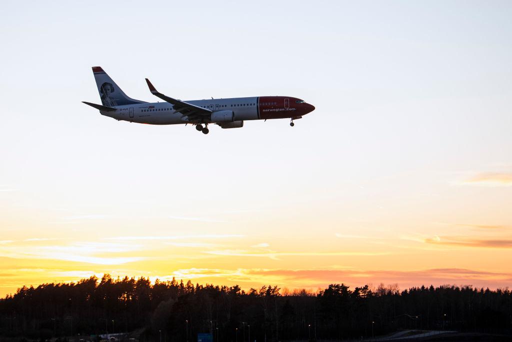 SWEDEN-HEALTH-VIRUS-TRANSPORT-AIRPORT-NORWEGIAN