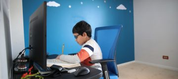 School Children Take Part In Remote Learning During Coronavirus Pandemic