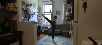 New York City Dancer Practices Online Lessons From Home During Covid-19 Pandemic