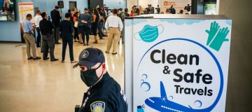 COVID-19 Testing Facility Set Up At Newark Airport For Arriving Passengers
