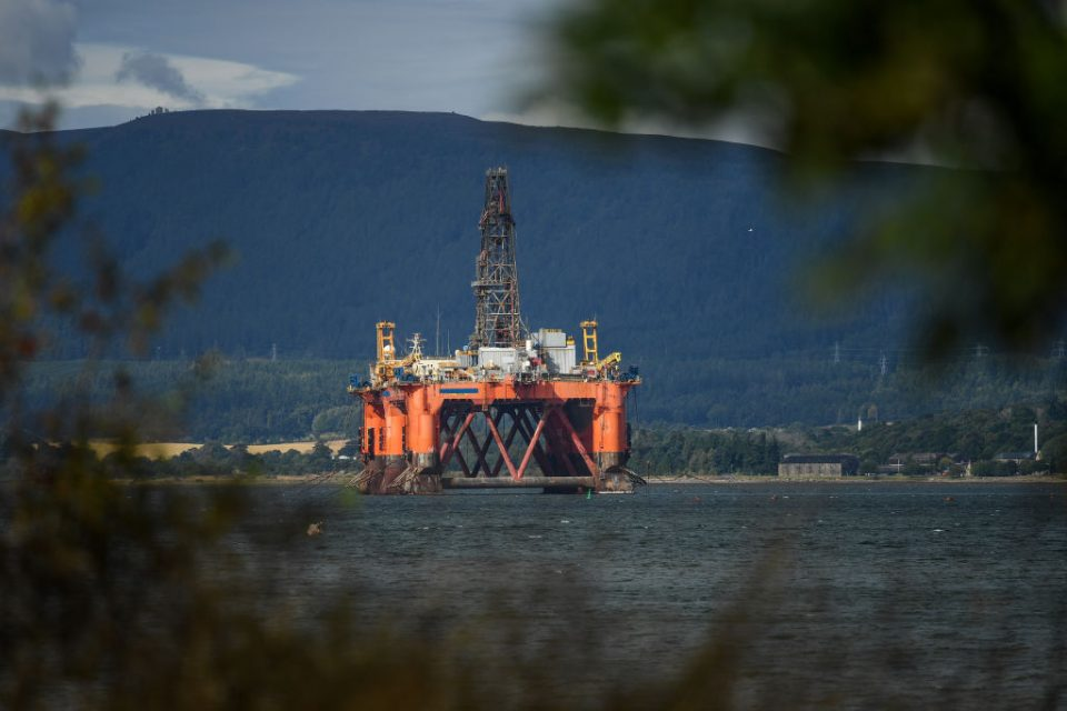 Oil Rigs Parked In Cromarty Firth Amid Oil Downturn