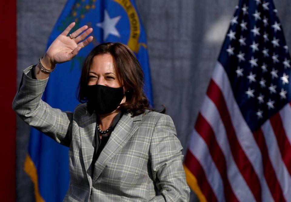 Democratic Vice Presidential Nominee Kamala Harris Campaigns In Nevada