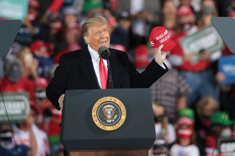 President Trump Holds Rally In Des Moines, Iowa