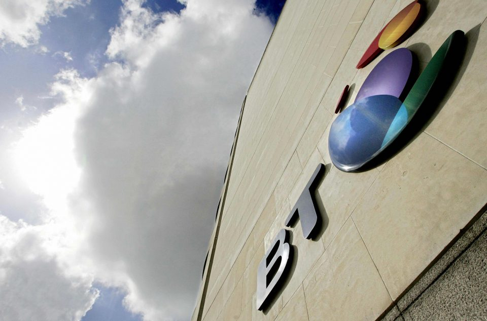 Telecoms giant BT said that half-year profit had slipped 20 per cent this morning but still boosted its earnings guidance for the full year.