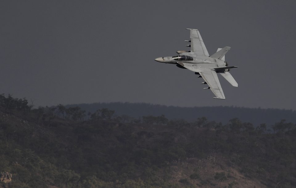 Australian Defence Force Troops Test Super Hornet Aircraft Capabilities During Exercise Nigrum Pugio