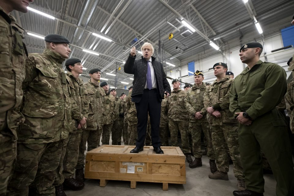 Boris Johnson Visits British Troops In Estonia