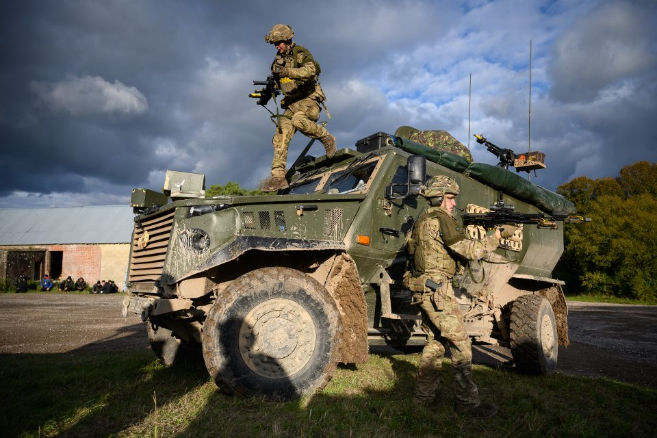 British Army Exercises Ahead Of UN Peacekeeping Operation