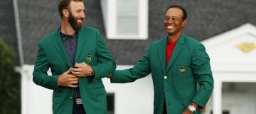 Dustin Johnson succeeded Tiger Woods as Masters champion after a sublime display at Augusta