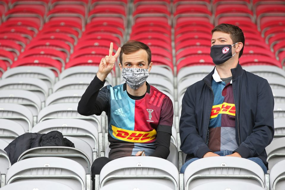 Harlequins had 2,800 spectators at their game with Bath in September, as part of a nationwide pilot scheme