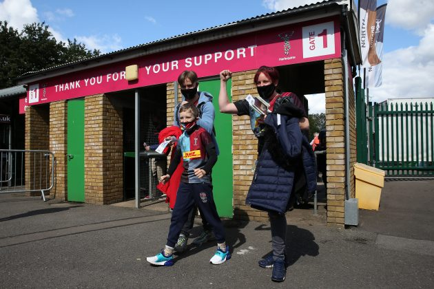 Harlequins fans were given a 15-minute window in which to arrive for their limited-capacity game against Bath