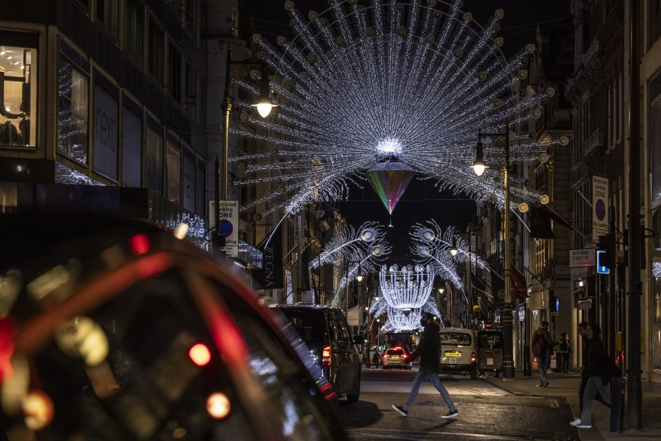 London Lights Up For Christmas Despite Lockdown