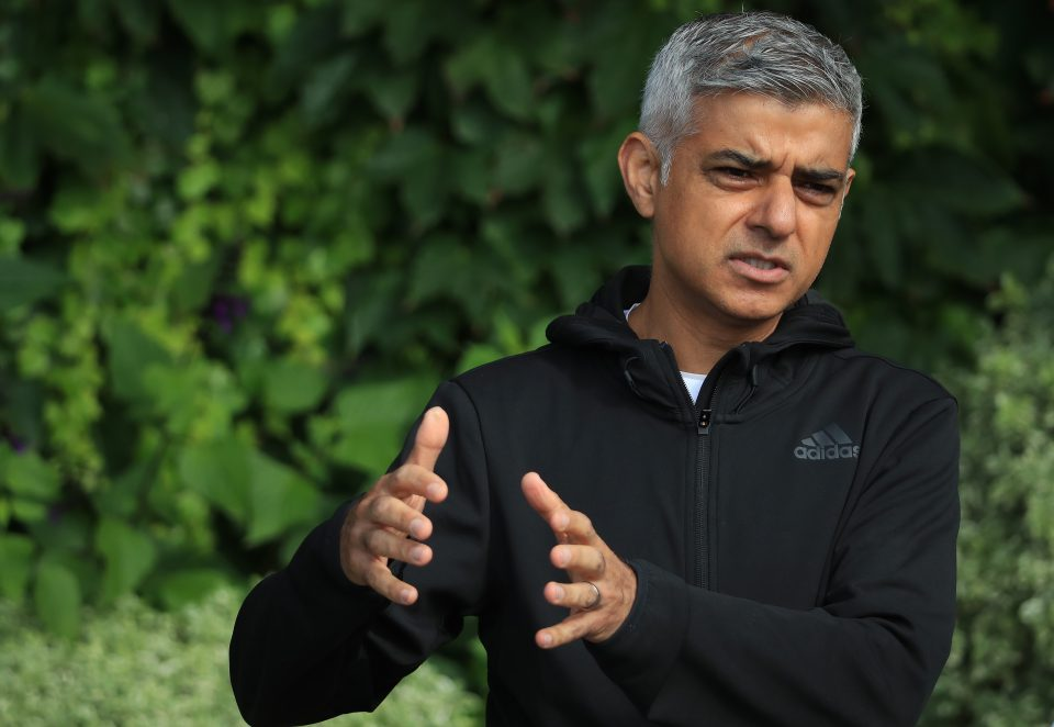 London Mayor Sadiq Khan Plays Tennis With Key Workers At All England Club
