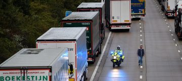Lorries Back Up As Operation Stack Is Activated On Kent Motorway