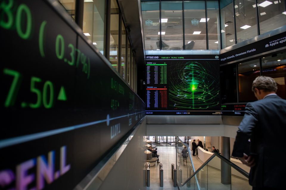 FTSE 100 heads for second-best month on record but still lags peers