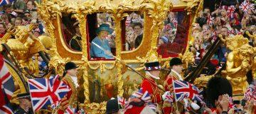 Queen Elizabeth at Golden Jubilee Parade