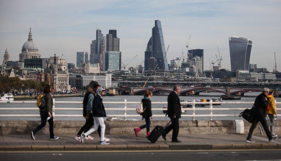TOPSHOT-BRITAIN-ECONOMY-GROWTH-INDICATOR-BREXIT-POLITICS