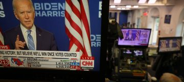 Television Plays Biden Speech At The White House One Day After Election