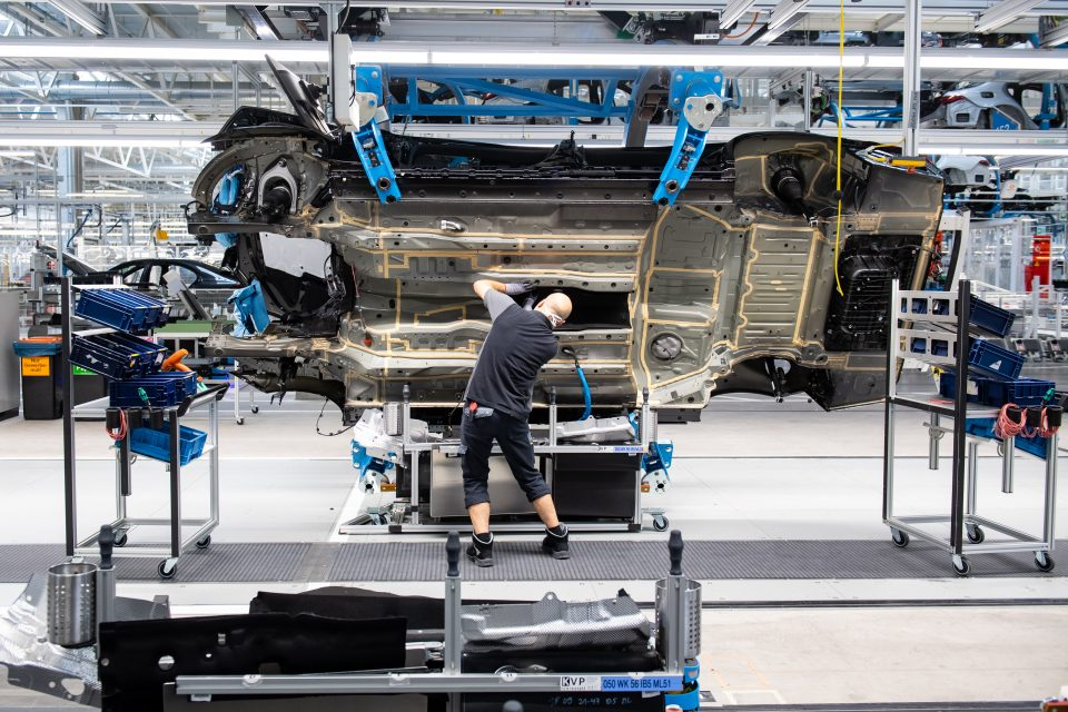 The number of cars produced in the UK last month remains mired at nearly half of pre-pandemic levels as the industry grapples with shortages of key components like semi-conductors.