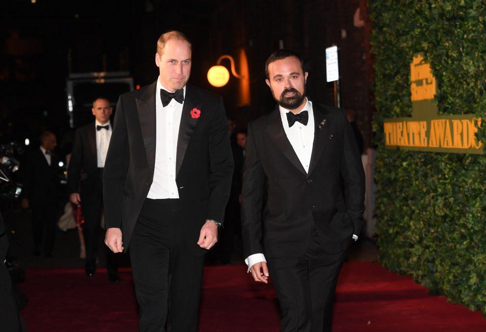 Evgeny Lebedev with Prince William