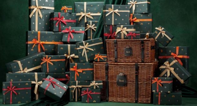 The most extraordinary hampers in the world. All wrapped up. From Harrods, with love.