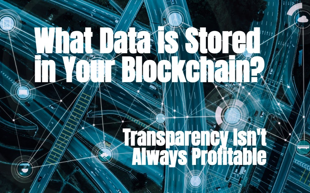 Blockchain. What's Stored In the Ledger?