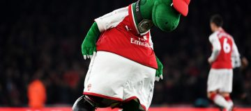 Arsenal mothballed mascot Gunnersaurus while matches were being played behind closed doors due to the pandemic