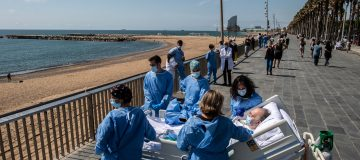 Barcelona Hospital Takes Recovering Coronavirus Patients To The Seaside