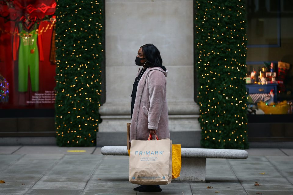 Christmas Shoppers In London's Oxford Street