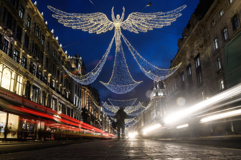 Christmas lights in central London