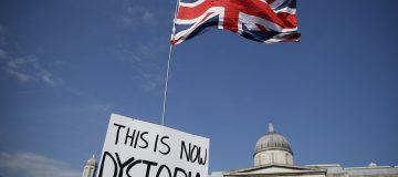 Coronavirus Anti Vaxx Rally Is Held In Trafalgar Square