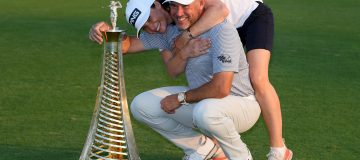 Lee Westwood clinched a third European order of merit with his fiancee Helen Storey as caddie