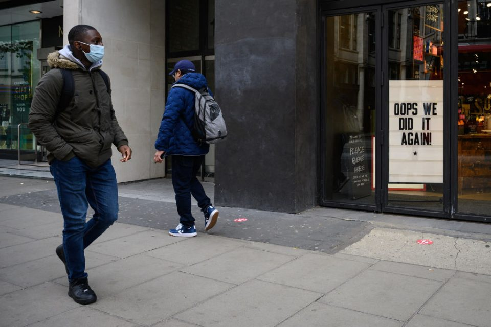 England Under Second Coronavirus Lockdown