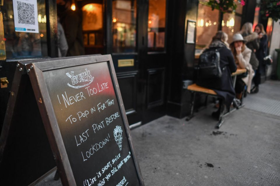 Quarter of UK pubs feared closing for good even before new lockdowns
