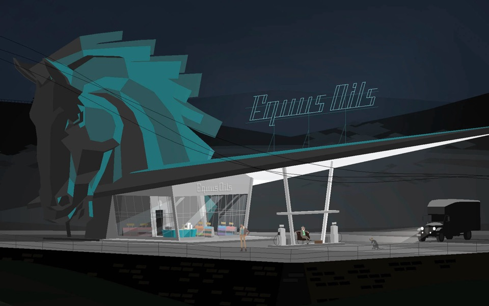 A still from Kentucky Route Zero, one of the games that defined 2020