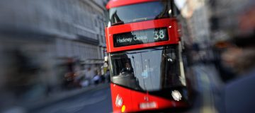 New Routemaster Bus Drives Up Piccadilly