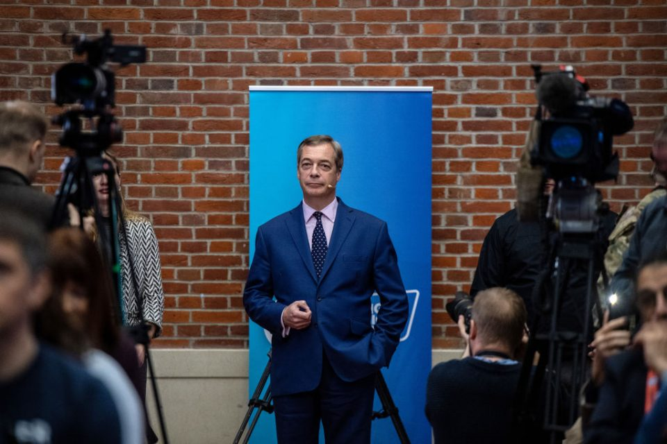 Nigel Farage Holds London Press Conference