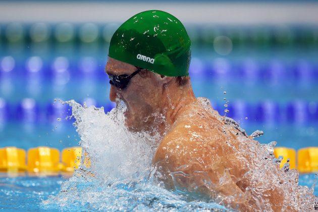 Van der Burgh won Olympic gold in the men's 100m breaststroke at London 2012