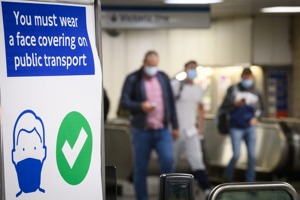 Protective Face Masks Become Mandatory On London Transport