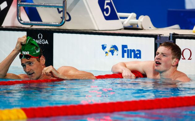 Van der Burgh and Britain's Adam Peaty enjoyed a fierce rivalry but remain good friends