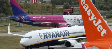Ryanair and Wizz Air both said that passenger numbers had dropped over 80 per cent in November, with international leisure travel banned under the UK's second national lockdown.